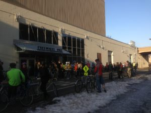 Novice volunteers got 100 people to Bikes and Brewvies - despite snow
