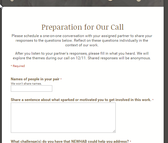 Google Forms as a call script