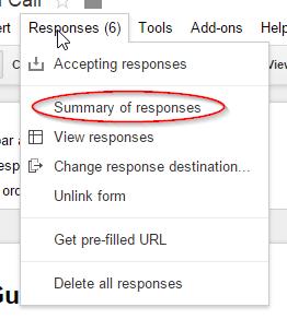 summary of responses url intructions