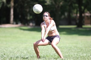 returning a volleyball