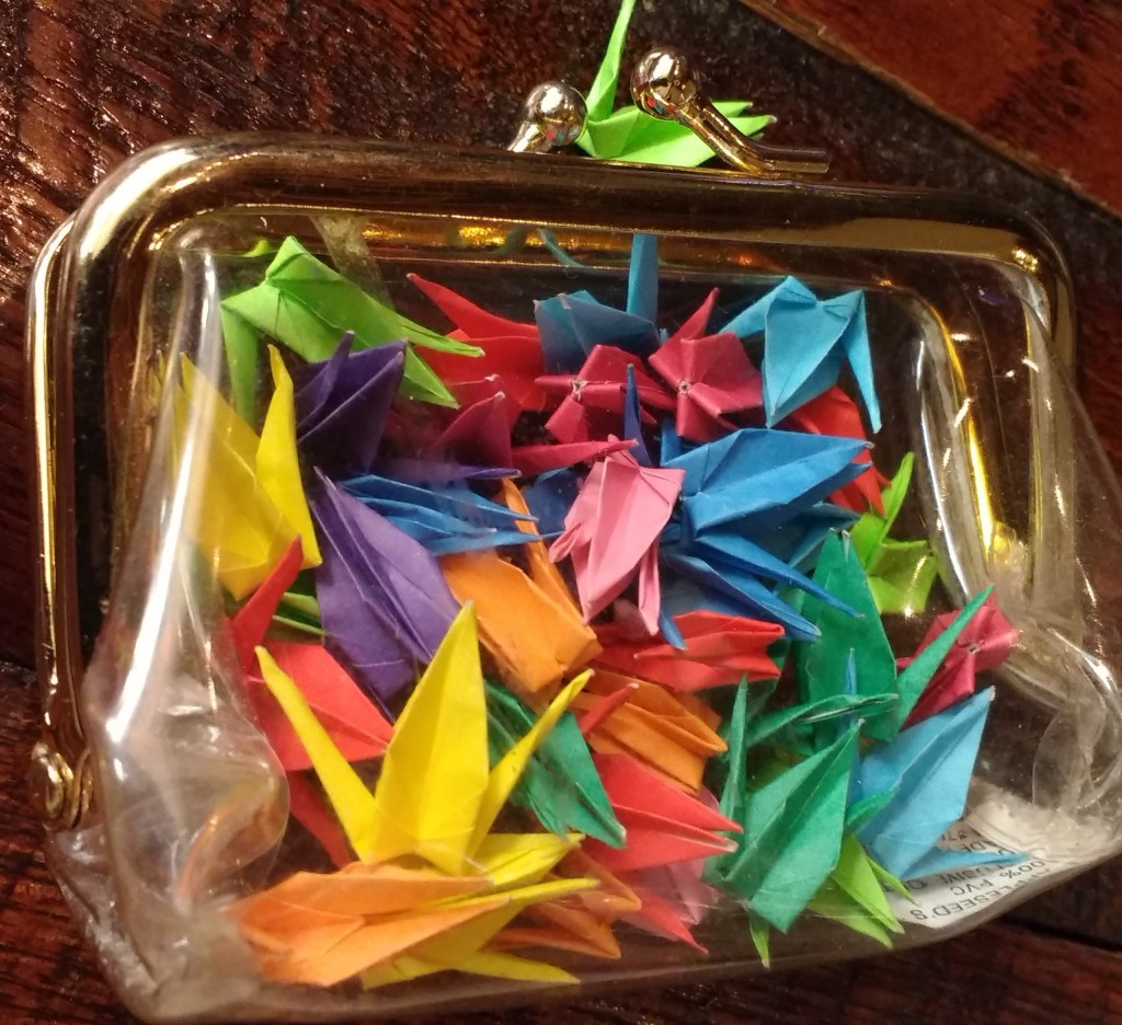 coin purse of origami cranes